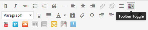 Text editor's toolbar