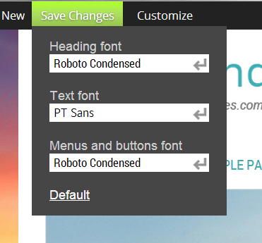 Font Settings Window