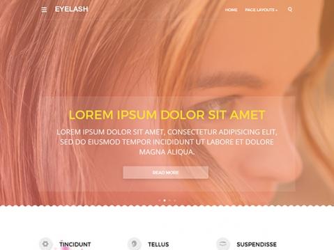 EyeLash Premium WordPress Theme
