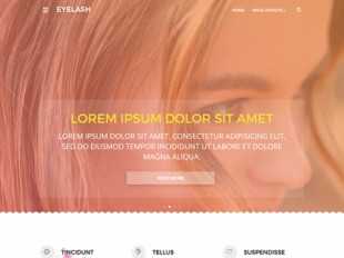 EyeLash Premium WordPress Theme