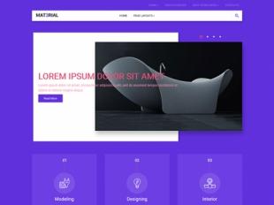 Material Premium WordPress Theme