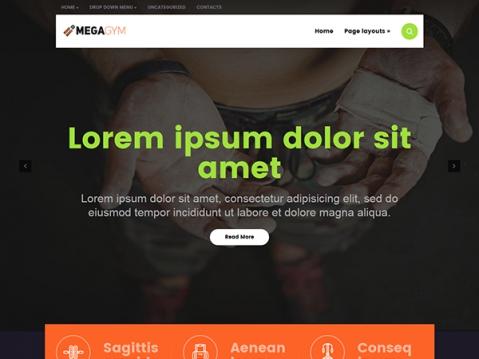 MegaGym Premium WordPress Theme