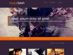 MusicalSplash Premium WordPress Theme