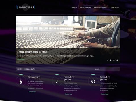 MusicStudio Premium WordPress Theme