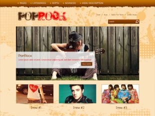 PopRock Premium WordPress Theme